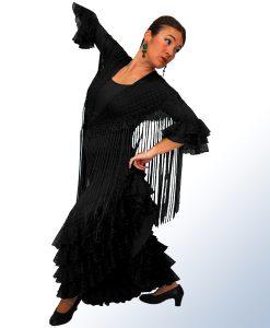 Falda Alma con cutro volantes en encaje de plumeti