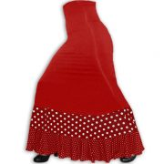 falda flamenco Jarana Rojo combinado Riapita Rojo