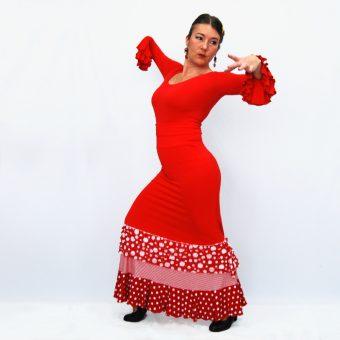 falda flamenco Alegria Rojo volantitos lunar