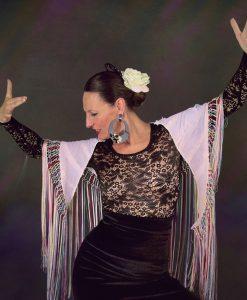 Top Debla de baile flamenco en encaje calado