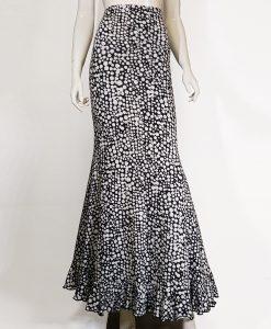 Falda de baile flamenco Garbo estampado de imitacion a lunares
